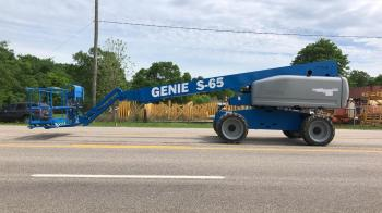 GENIE S65 Diesel boom lift 4X4 Diesel - Refurbished Warranty