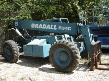 Gradall 534C, 534D6 Forklifts